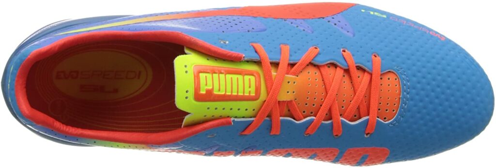 Puma evo speed 1.2 football boot for shooting and passing