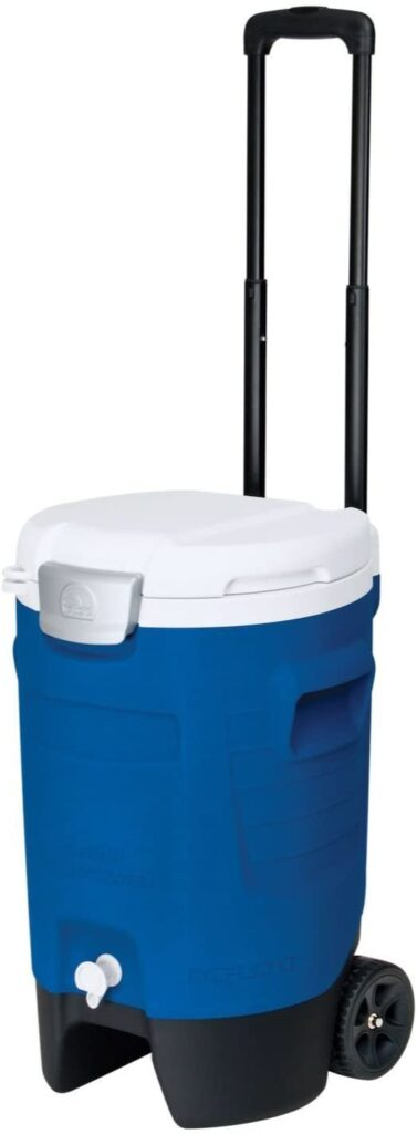 Wheeled portable sports cooler