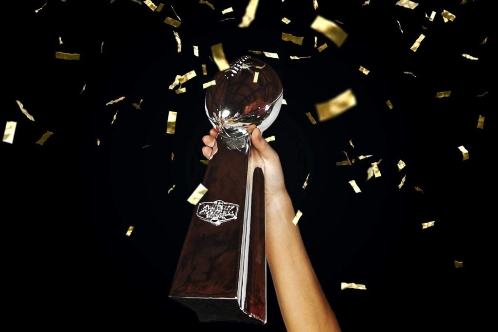 Football trophy gift for football players