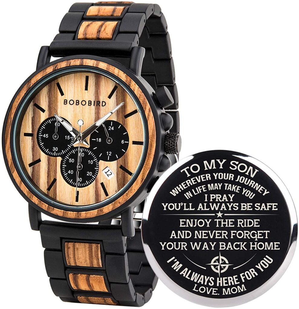 Personalized watch gift for football player boyfriend