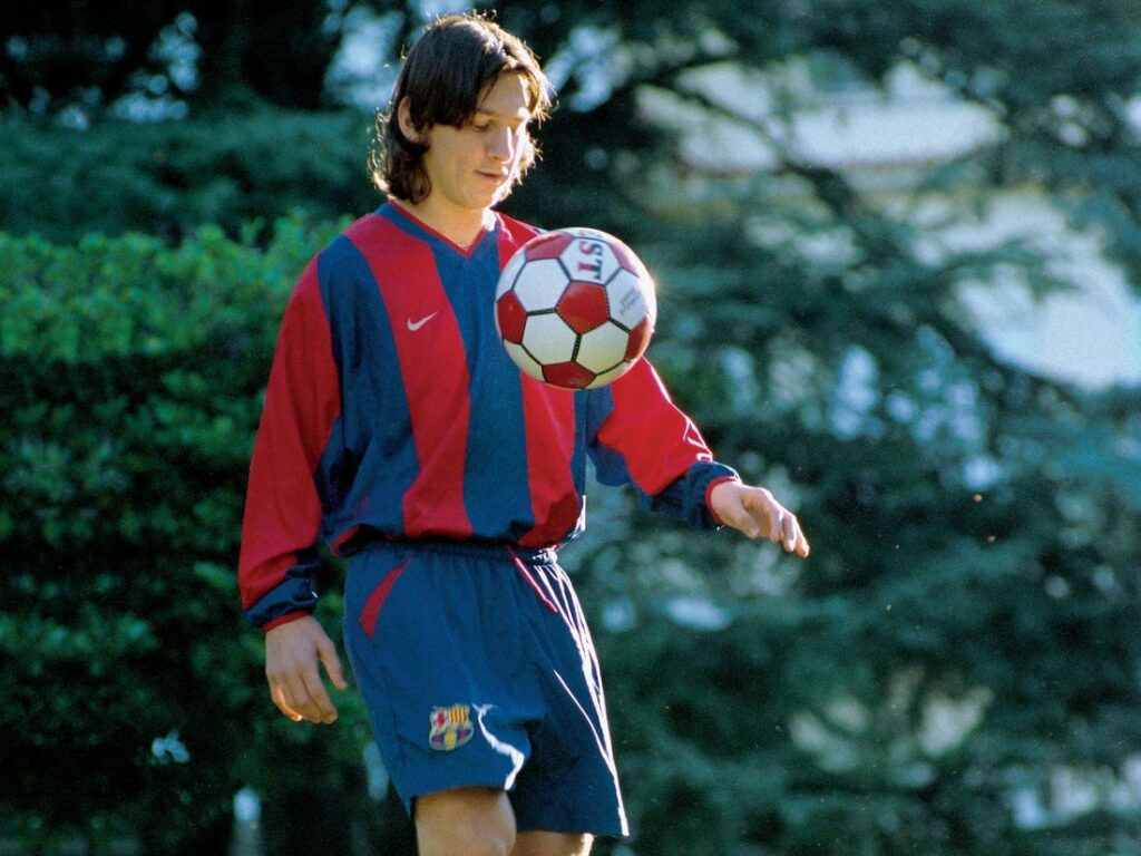 Lionel Messi at a young age