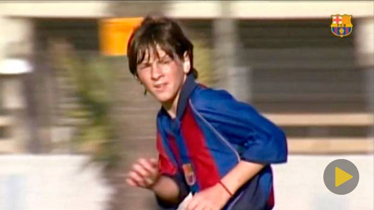 Lionell Messi in his childhood  days